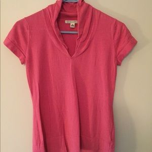 Short-sleeved Banana Republic pink sweater